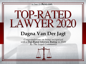 Dagna Van Der Jagt AVVO Top Rated Lawyer 2020